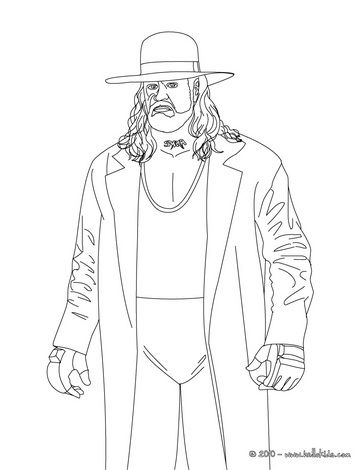 wrestler undertaker coloring page