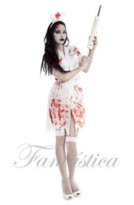 disfraz enfermera zombie disfraz halloween tienda