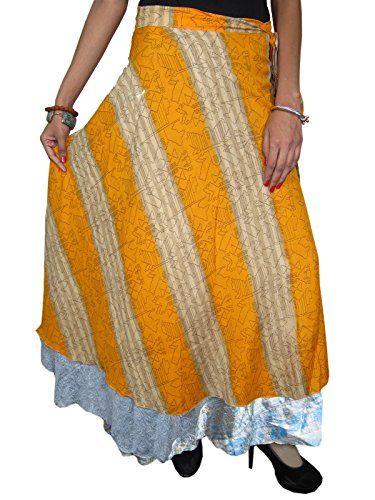 Wrapskirts Vintage Silk Sari Reversible Yellow Wrap Around Skirt for Womens Mogul Interior http://www.amazon.com/dp/B00ORFDIM6/ref=cm_sw_r_pi_dp_cg5rub0T4EQPB