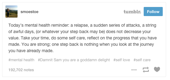 This Very Real Post About Recovery