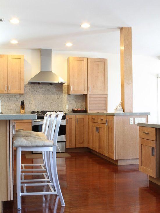 Marvelous Light Maple Kitchen Cabinets Design Stunning