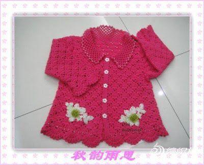 Delicadezas en crochet Gabriela: Vestido y chaqueta
