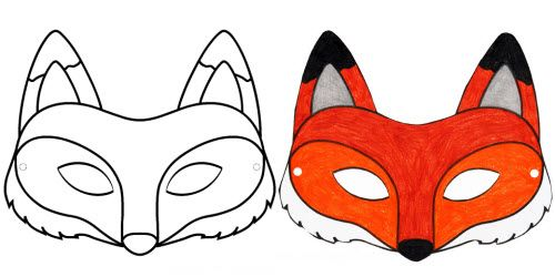 FREE DIY PDF printable print and cut mask Fox, what does the fox say ...