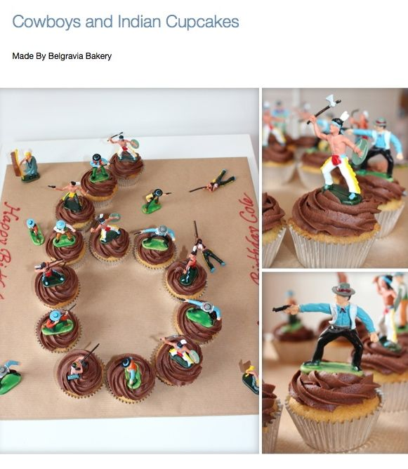 Cowboy And Indian Cupcakes Made By Belgravia Bakery Party Time