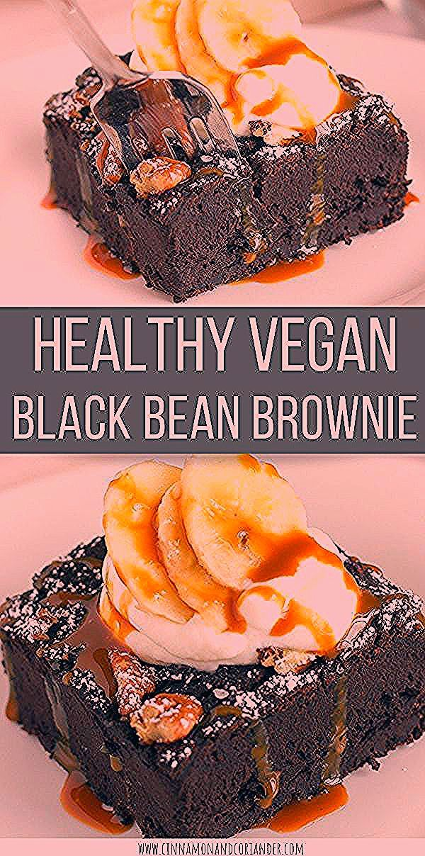 Healthy Vegan Black Bean Brownies | these fudgey chocolate brownies are made with canned black bean