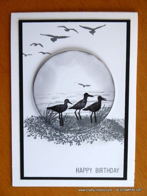 High Tide For A Monochromatic Birthday Card Birthdays Cards And
