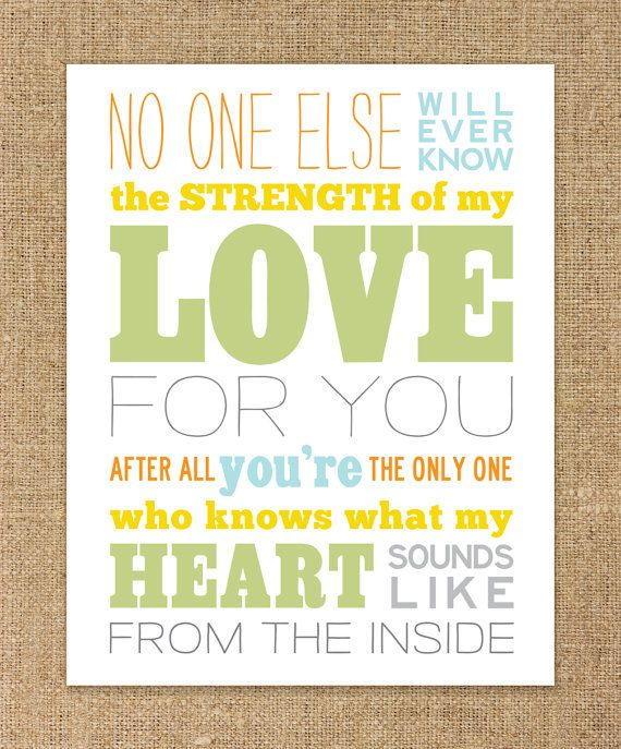 Strength of my Love Nursery Wall Art | Oh Baby Baby | Pinterest ...