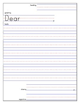 Friendly Letter Template And Example  Letter Writing Template