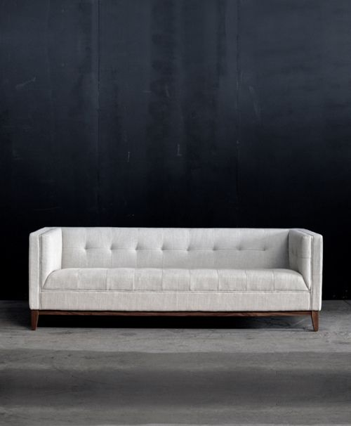 Incredible Tufted Marshmallow White Couch Retromodern Home Sofa Dailytribune Chair Design For Home Dailytribuneorg