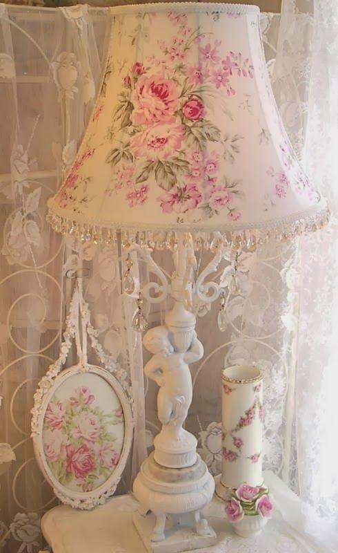 My Shabby Rose Cottage Chic Lamp Decor