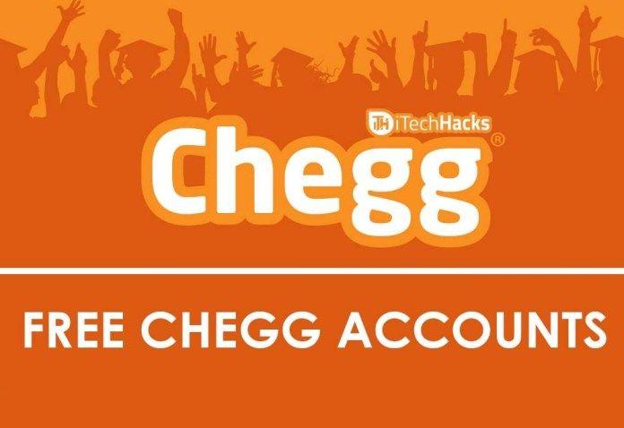 Free Premium Chegg Accounts & Passwords 2019   Passwords