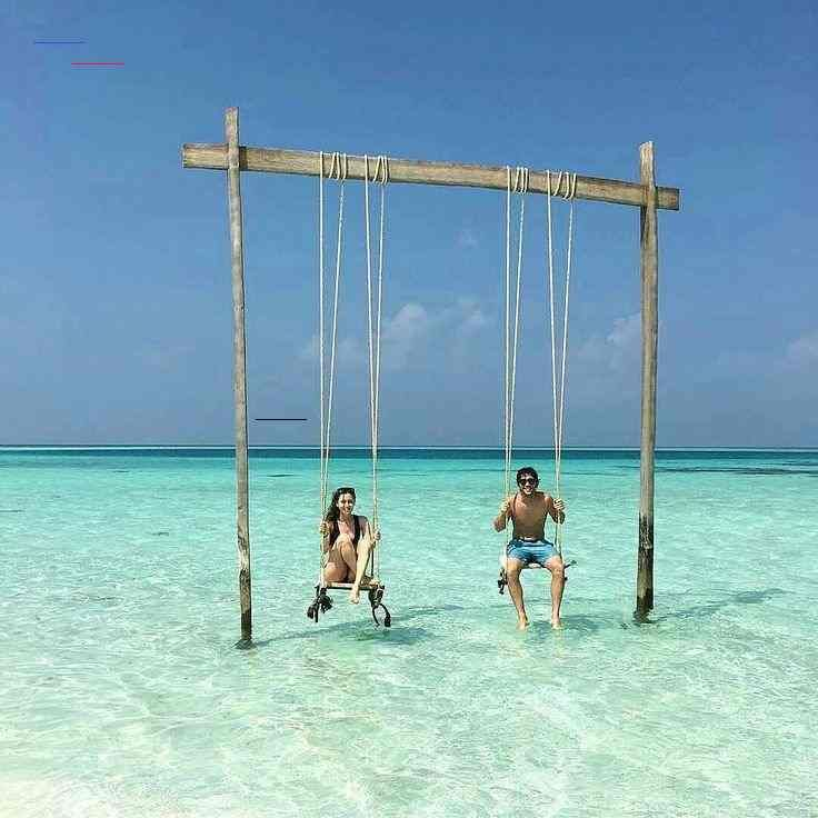 """Maldives on Instagram: """"The Maldives Islands #Maldives Photo @jessicafaccin #nofilter #honeymoon #shesaidyes #couples #swings #happiness #pure #endlessblue…"""" - #beachhoneymoonclothes"""