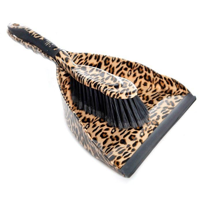 Bought But Still Need A Hand Broom Dustpan Leopard