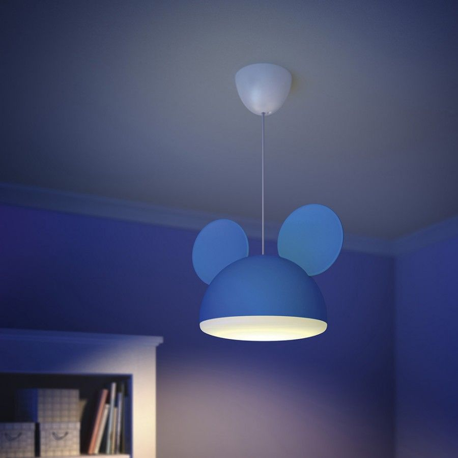 Ph1 71758 30 16 philips disney mickey mouse childrens ceiling philips disney mickey mouse childrens ceiling pendant light from litecraft aloadofball Images