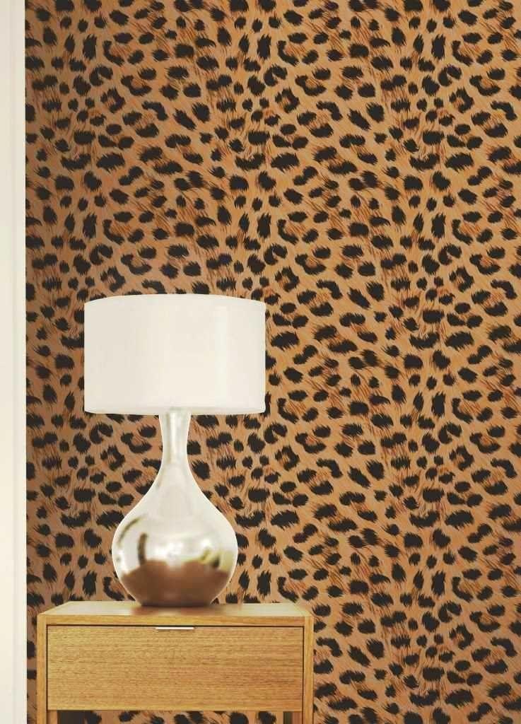 Leopard Print Gold Wallpaper 10m Co Uk Diy Tools The Home Decor