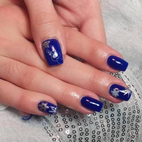 Best 20 Dark Blue Nail Art Designs 2018