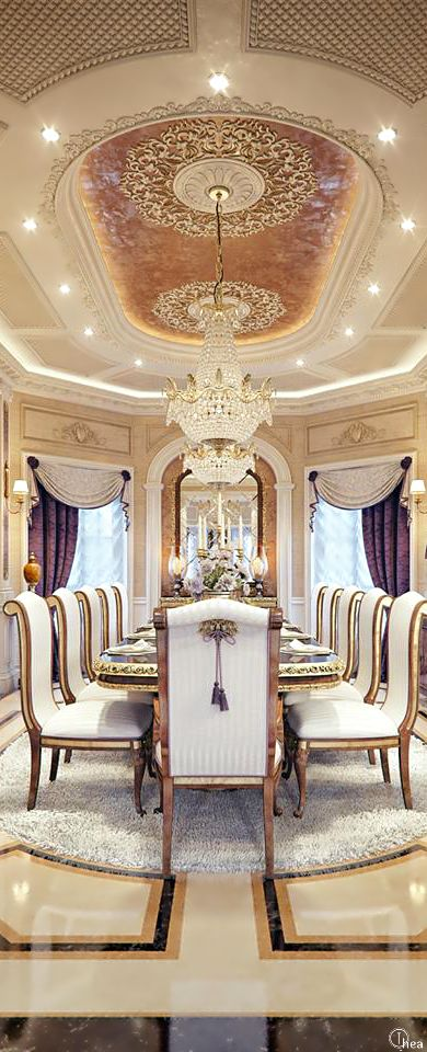 Luxury Home Design A Formal Dining Room The Guest House Of Very Wealthy Bella