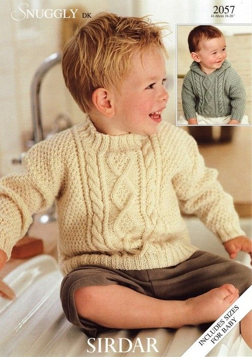 Sirdar--Sweaters (with or without hood, birth to 6 years)