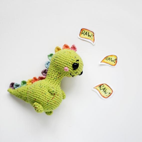 PATTERN crochet DINOSAUR pdf tutorial how crochet dinosaur pattern trex pdf crochet dino pattern dinosaur toy crochet trex pattern