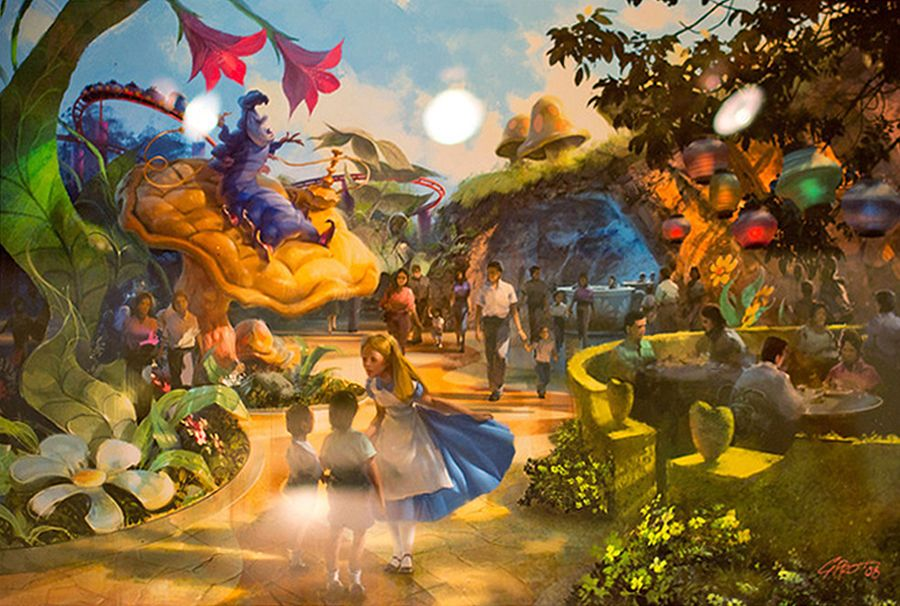 Alice in Wonderland expansion at Tokyo Disneyland concept ...