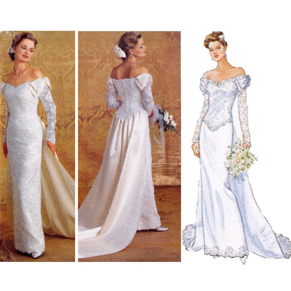 Bridal gown sewing pattern wedding dress pattern butterick bridal gown sewing pattern wedding dress pattern butterick 4288 b4288 uncut factory folds size 14 16 18 ombrellifo Images