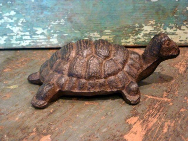 Cast Iron Brown Turtle Home Decor