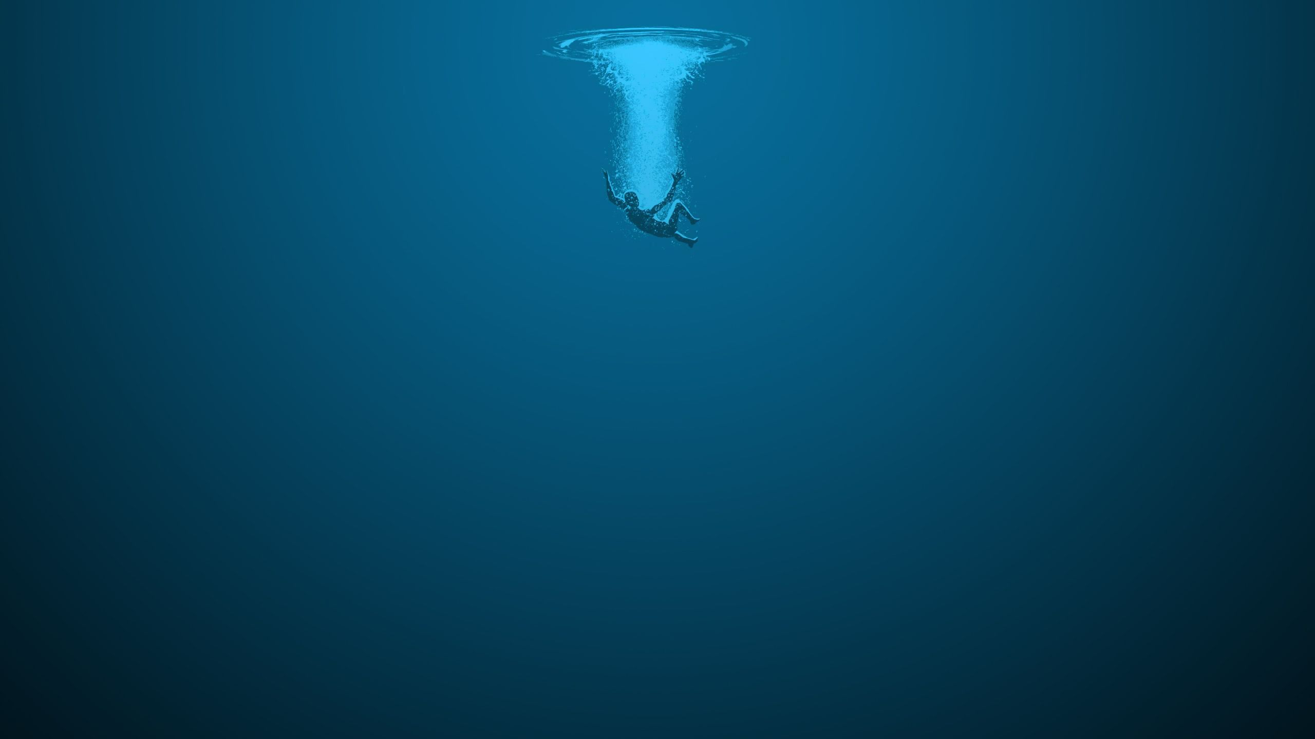 abyss artwork drowning lonely minimalistic wallpaper