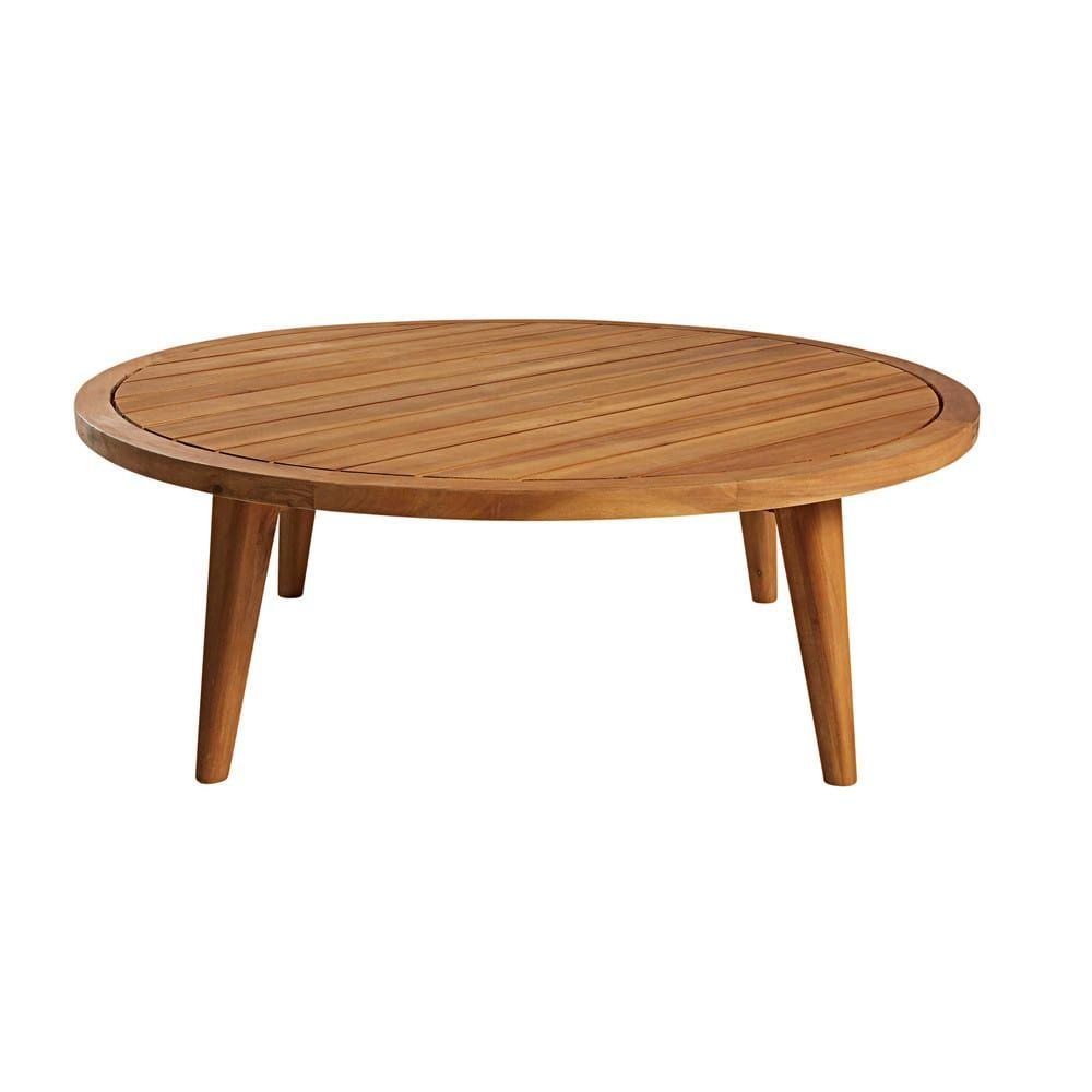 Table Basse De Jardin Ronde En Acacia Massif Noumea Garden Coffee Table Coffee Table Outdoor Coffee Tables