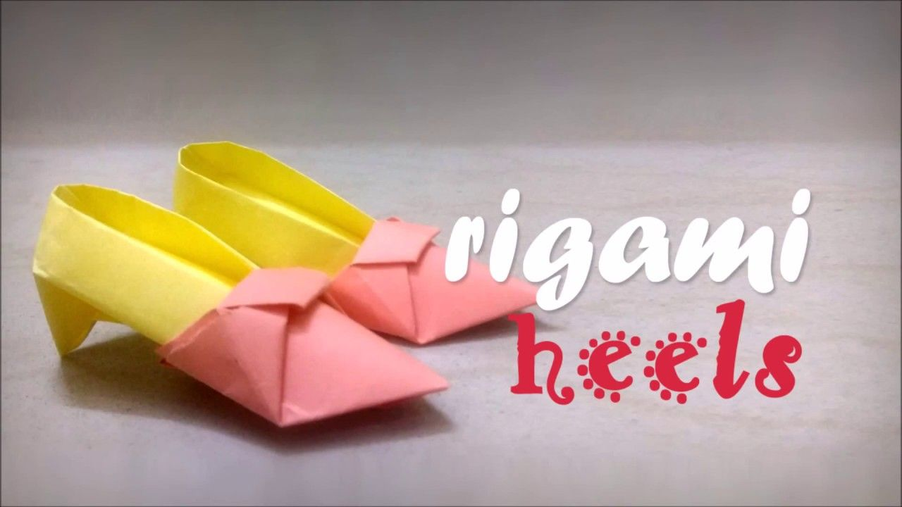 Tiny Origami Shoes Origami And Paper Crafts Pinterest Origami
