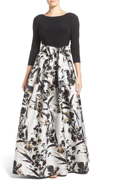 Eliza J Jersey & Faille Ballgown available at #Nordstrom | vestidos ...