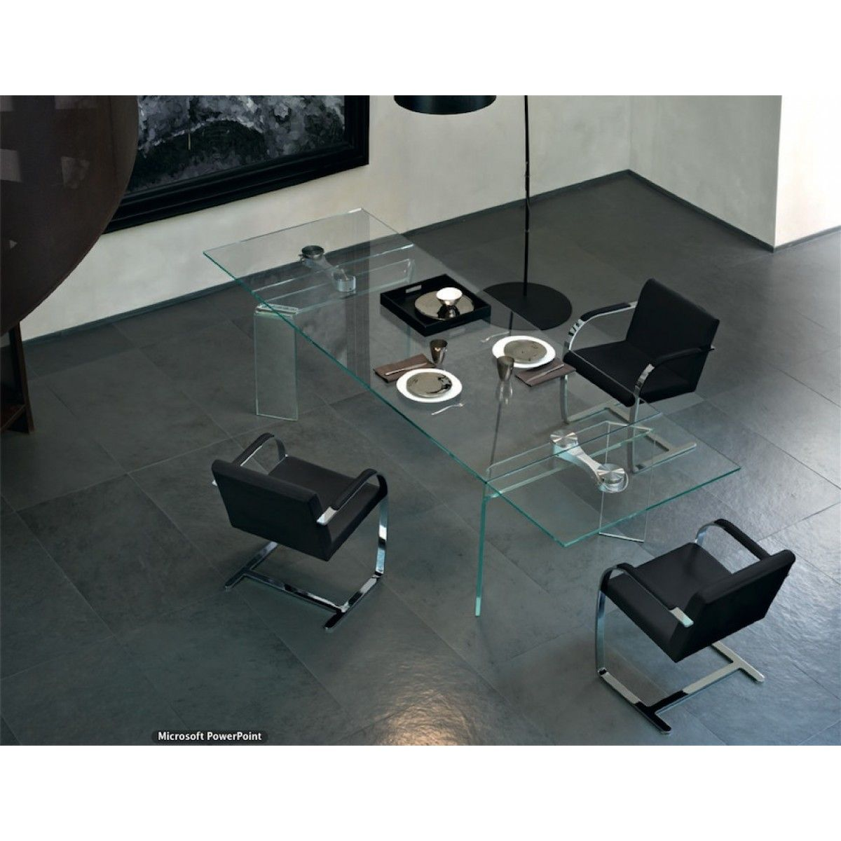 Fiam  Ray Plus Large Extending Extralight Table  Inspire Me Adorable Extendable Glass Dining Room Table Design Decoration