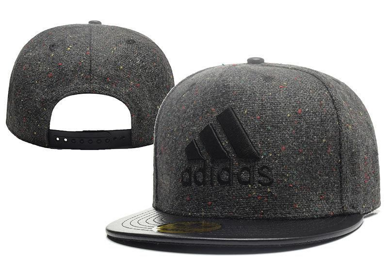 dae5b7cdad6 Men s Adidas The 3 Stripes Logo Linen Material PU Leather Visor Snapback Hat  - Black