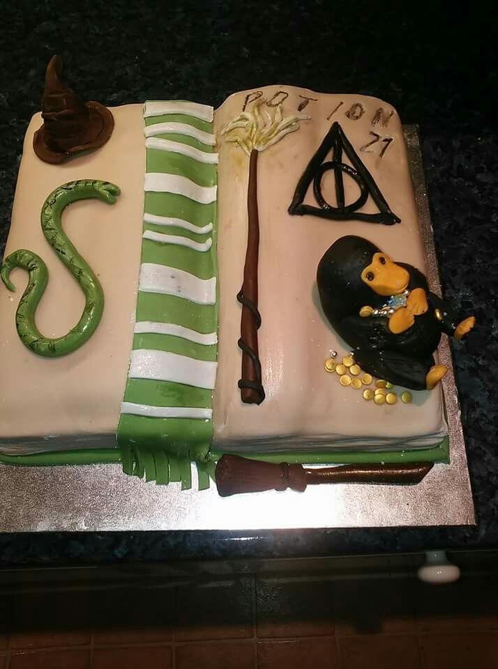 Harry PotterSlytherinNiffler inspired book cake Cake