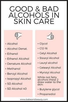 Photo of Alcohol in Skin Care — Babe + Beauty