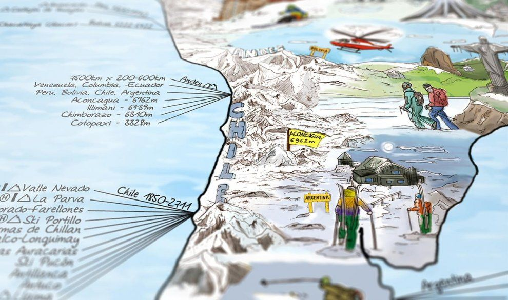 Hundreds of slopes MAPS Pinterest - best of world map with ecuador