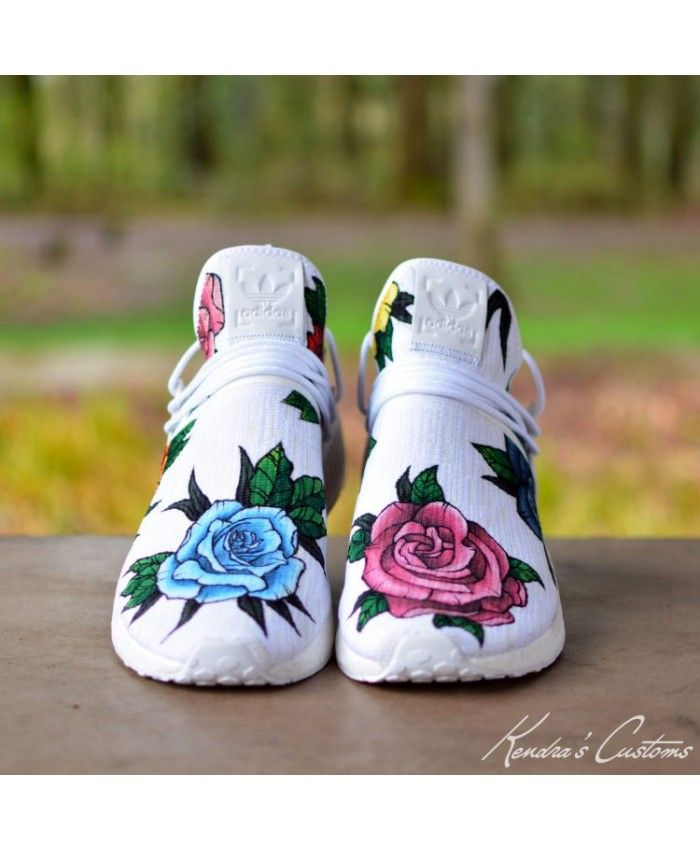 Adidas NMD R1 Custom White Floral Womens Trainers