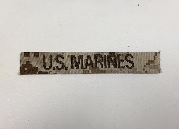 USMC CUSTOM MARPAT DESERT EMBROIDER NAME TAPE VARIOUS COLOR LETTERS Velcro®