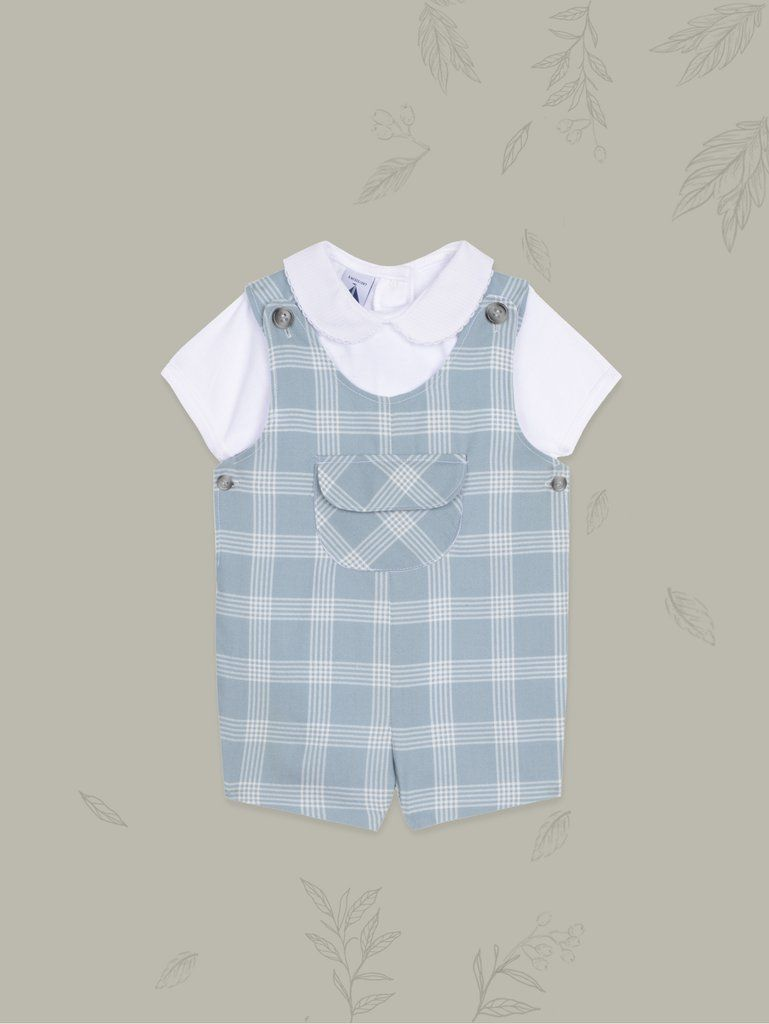 1a67a2e28c9d Baby Boy Fun Aqua Checks Look