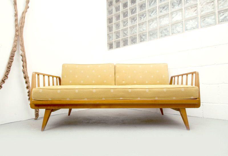 50er daybed knoll antimott senfgelb von silent cube auf couch pinterest. Black Bedroom Furniture Sets. Home Design Ideas