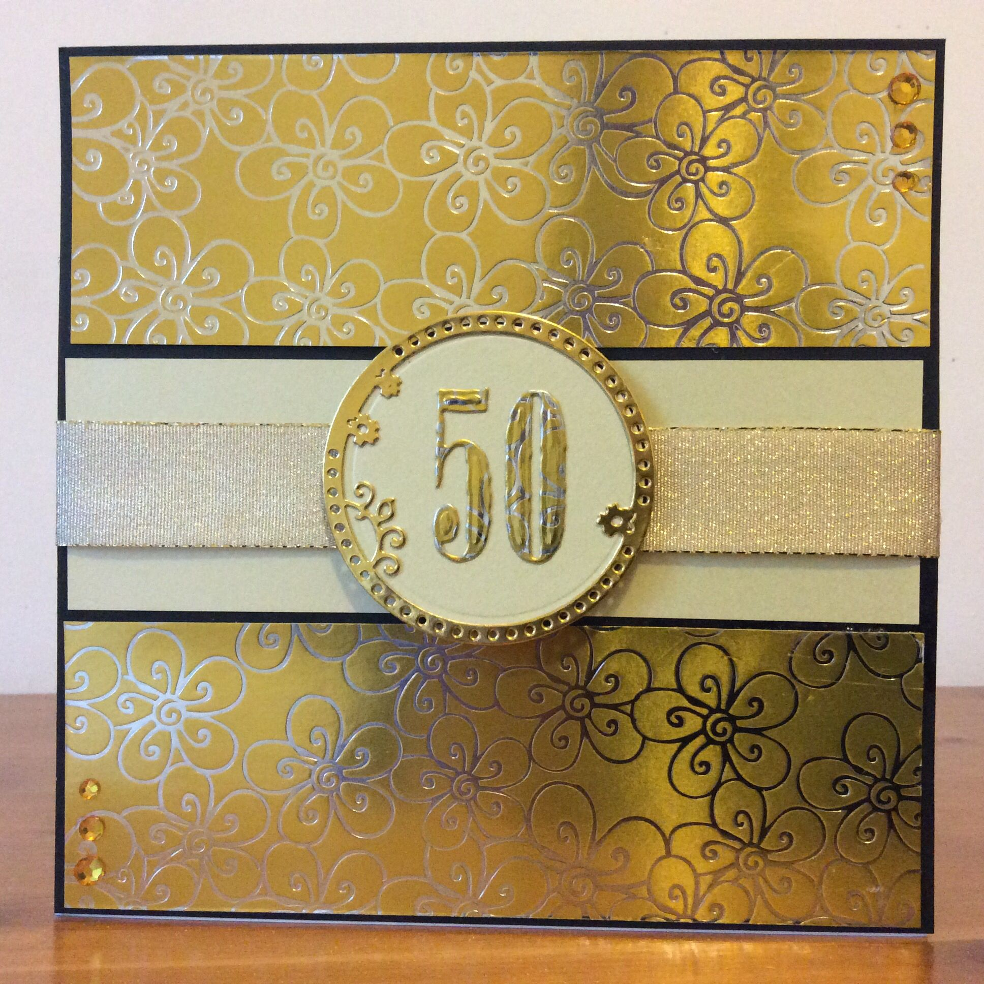 Evelyn michie golden weddingth birthday card a my cards