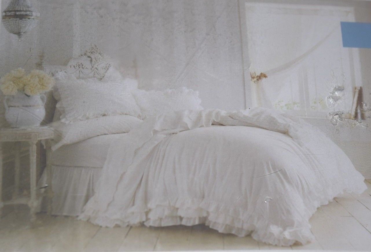 Rachel Ashwell Simply Shabby Chic White Ruffles Lace Duvet Cover Sham Set Queen Ebay Simply Shabby Chic Shabby Chic Room White Shabby Chic