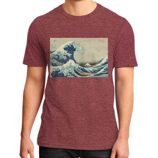 Thirty-six Views of Mount Fuji : The Great Wave off Kanagawa District T-Shirt [men]