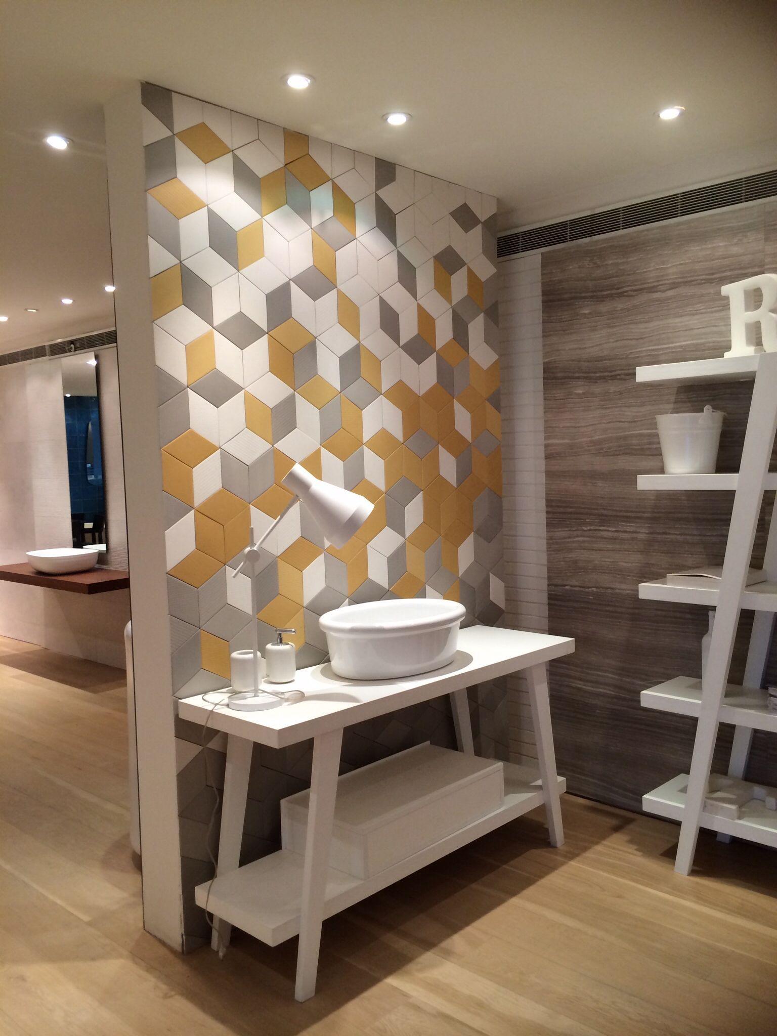 Mutina tex raw edges yellow, gray and white. - toilet ideetjes ...