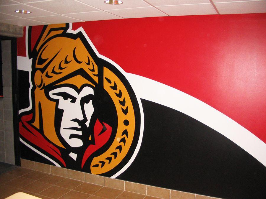 Ottawa Senator Themed Mural Hand Painted By Mural Magic In