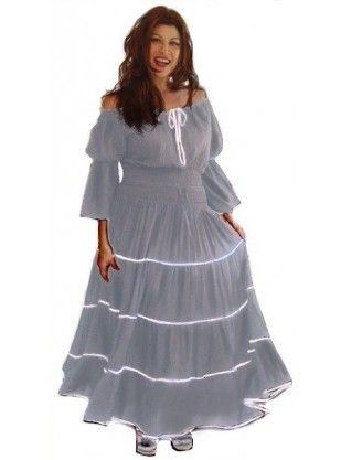 Long sleeve peasant maxi dress