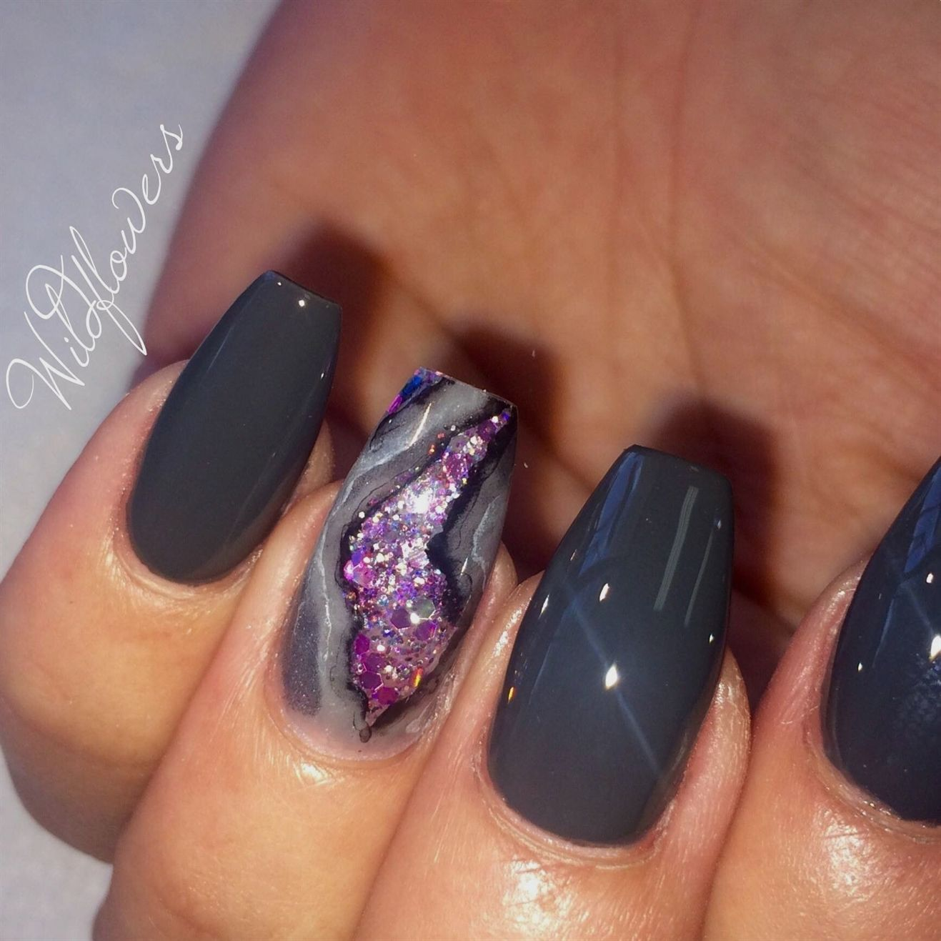 Geode trend kit in gel nails pinterest nails nail art