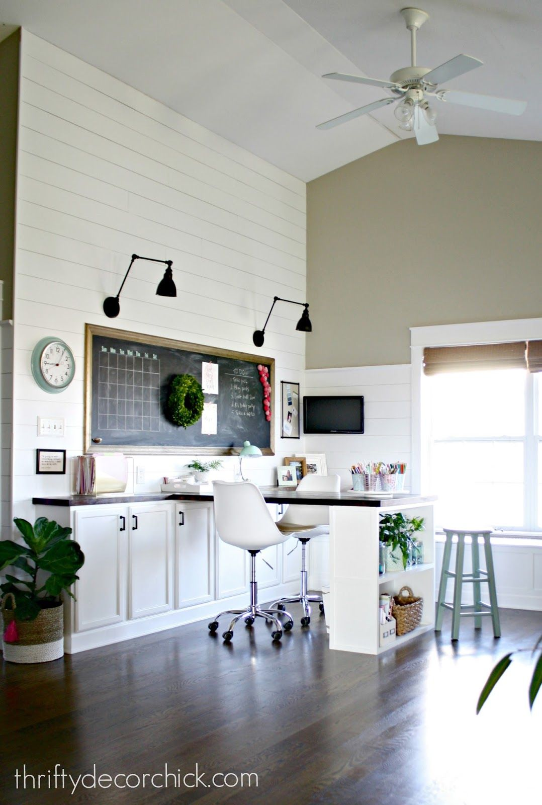 craft room home office design. Our Craft Room, Office, Hang Out Space, Wrapping Station REVEAL! Room Home Office Design I