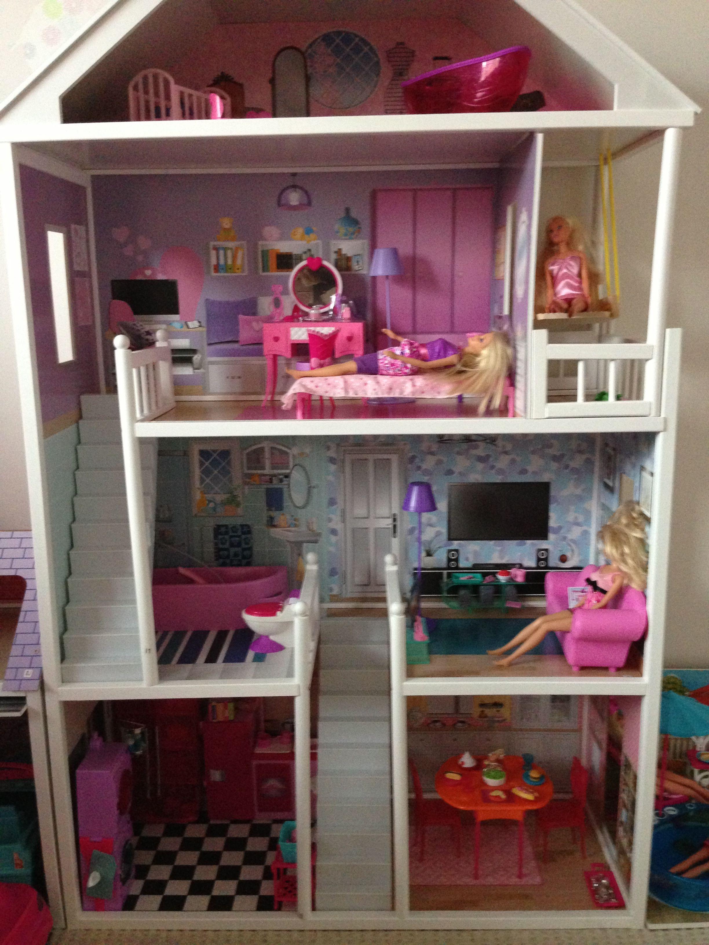 Barbie house Casa de mu ecas con reciclaje Pinterest