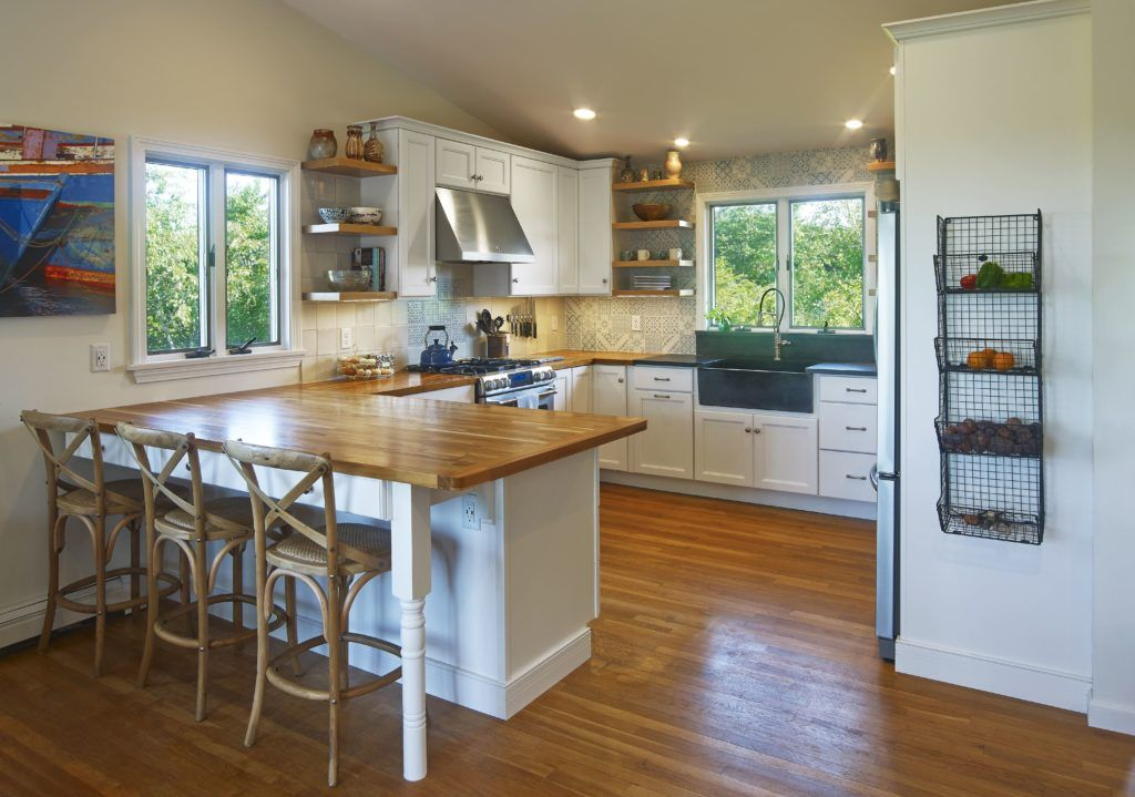 farmhouse kitchen with open shelving and butcher block countertop kitchen remodel custom on farmhouse kitchen open shelves id=47747