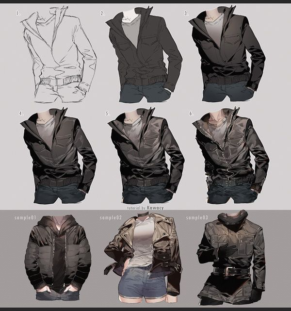 Drawing Leather Jacket By Kawacy Cloth Pinterest Drawings Art
